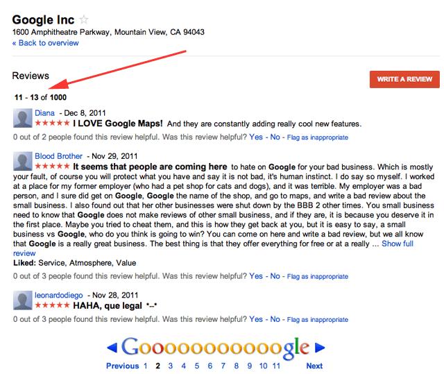 Google Maps Reviews Pagination Bug