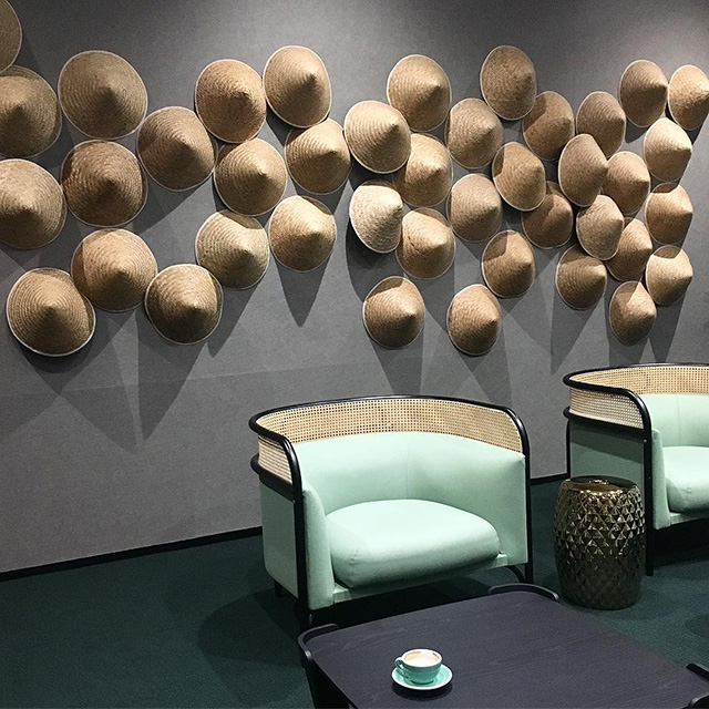 Asian Conical Hat Google Meeting Room Theme