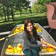Google's Indoor Row Boat With Rubber Ducks