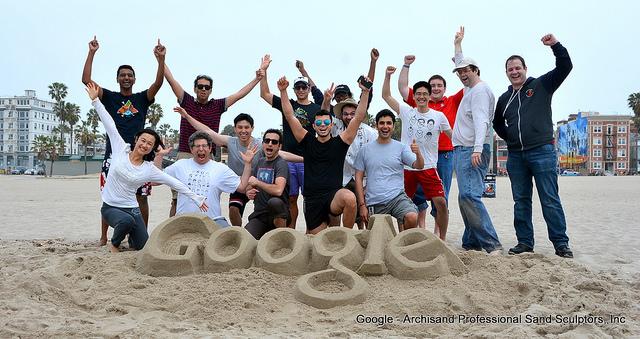 Google Sand Castle Logo
