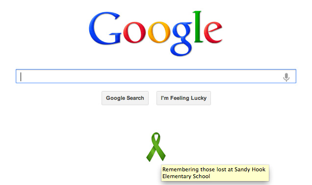 Google Ribbon For Sandy Hook Elementary School