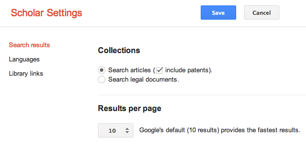 Google Scholar New