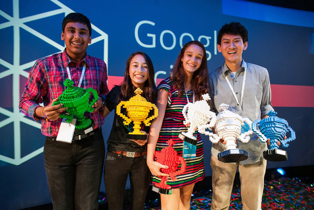 LEGO Trophies For Google Science Fair Winners