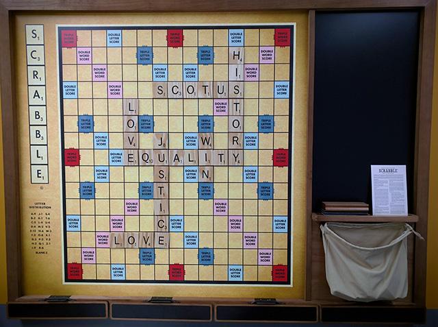 Huge Wall Scrabble Board At Google