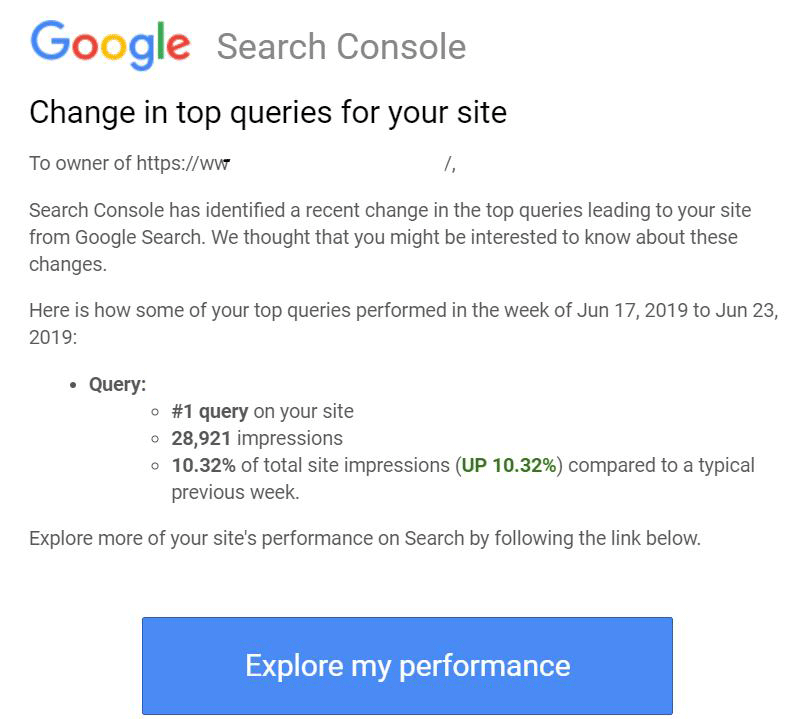 Google Search Console Alerts For Change In Top Queries For