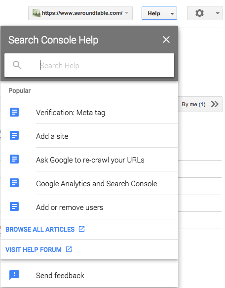 Google Search Console Upgrades Help Feature
