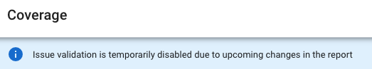 Validação de problema do Google Search Console temporariamente desativada 3