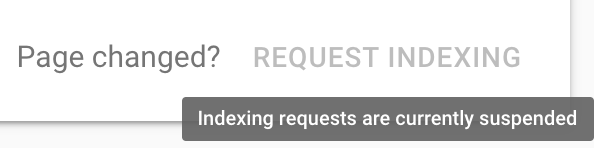 Request Indexing Feature In Google Search Console Return