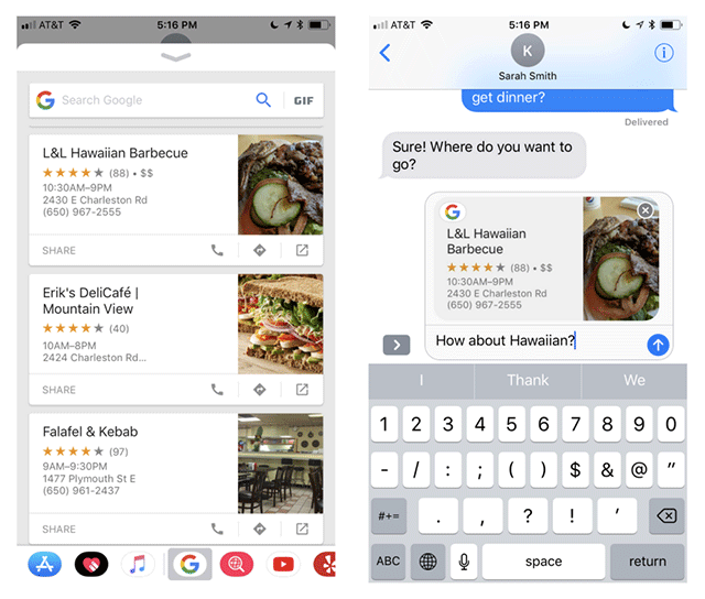 Google introduces new search extension for iMessage