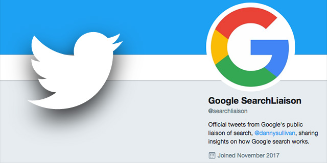 Google Search Liaison Twitter Account