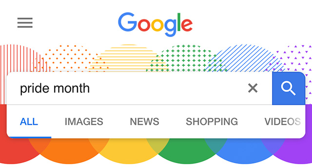 Google Search Decorations For Gay Pride Month