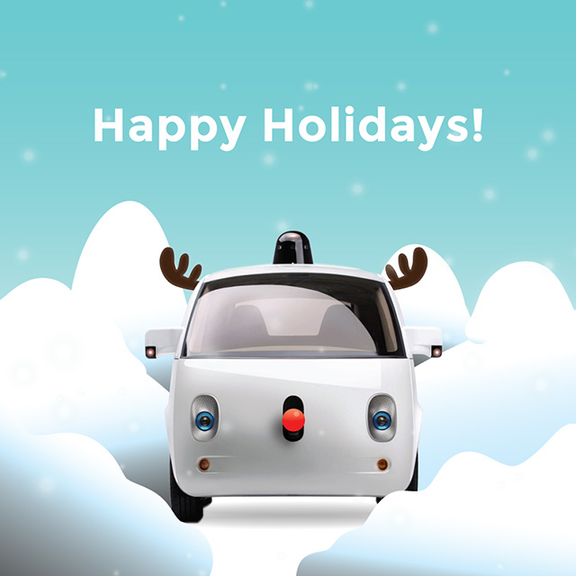 Google Self Driving Car Rudolph the Red-Nosed Reindeer