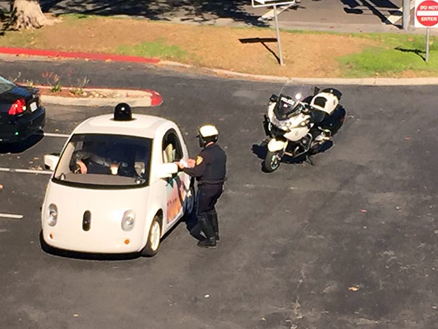 Cop Pulls Over Google Self-Driving Car For Driving Too Slow