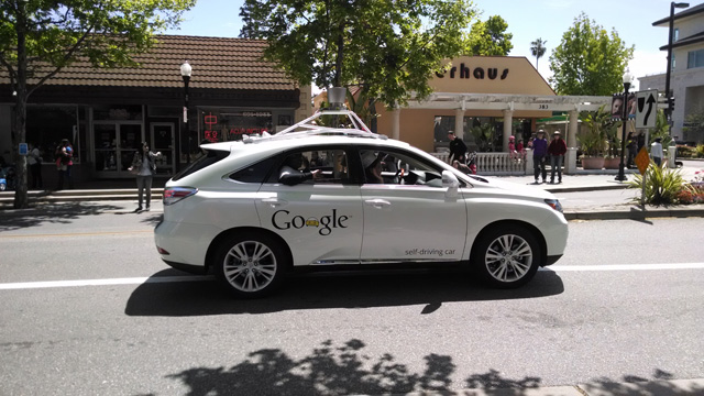 Google Self Driving Car In Mountain View Parade