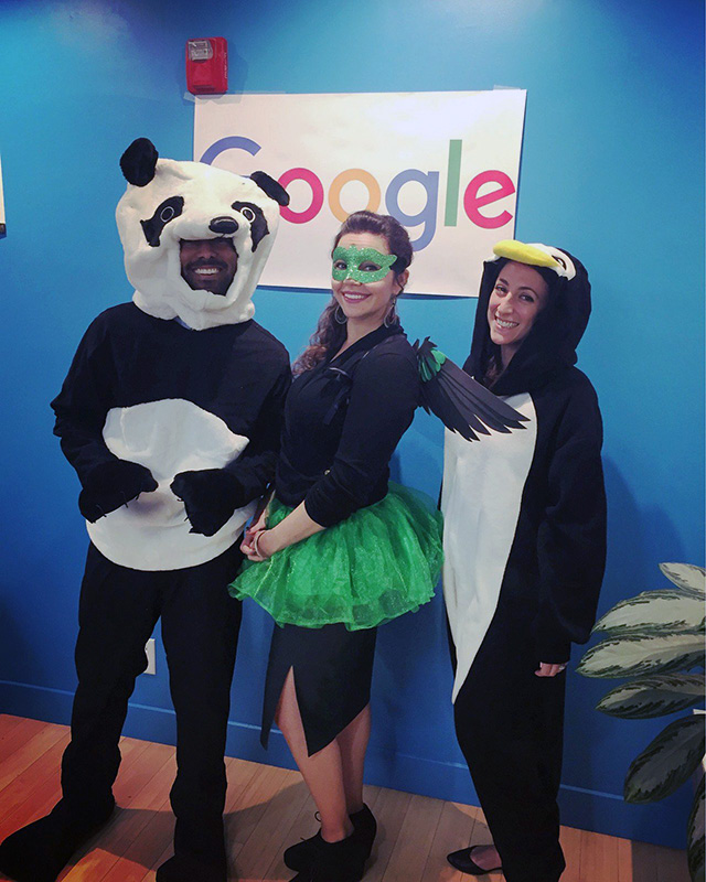 SEOs Dress Up As Google Algorithms On Halloween