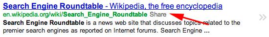 Google Share Link