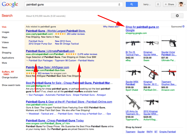Google Shopping Placement