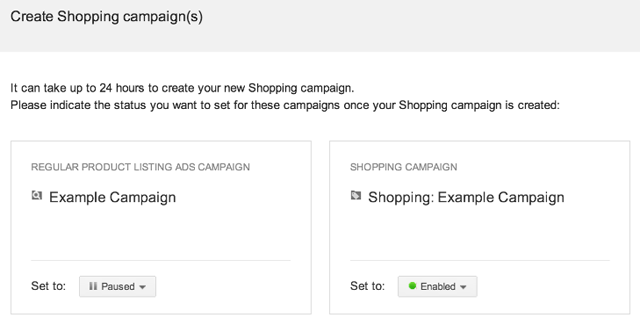 Google AdWords Shopping Campaigns Upgrade Tool