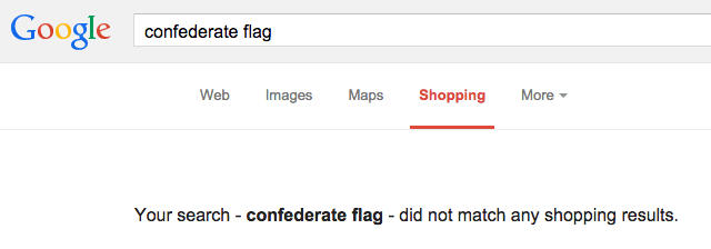 Google Shopping Removes Confederate Flags