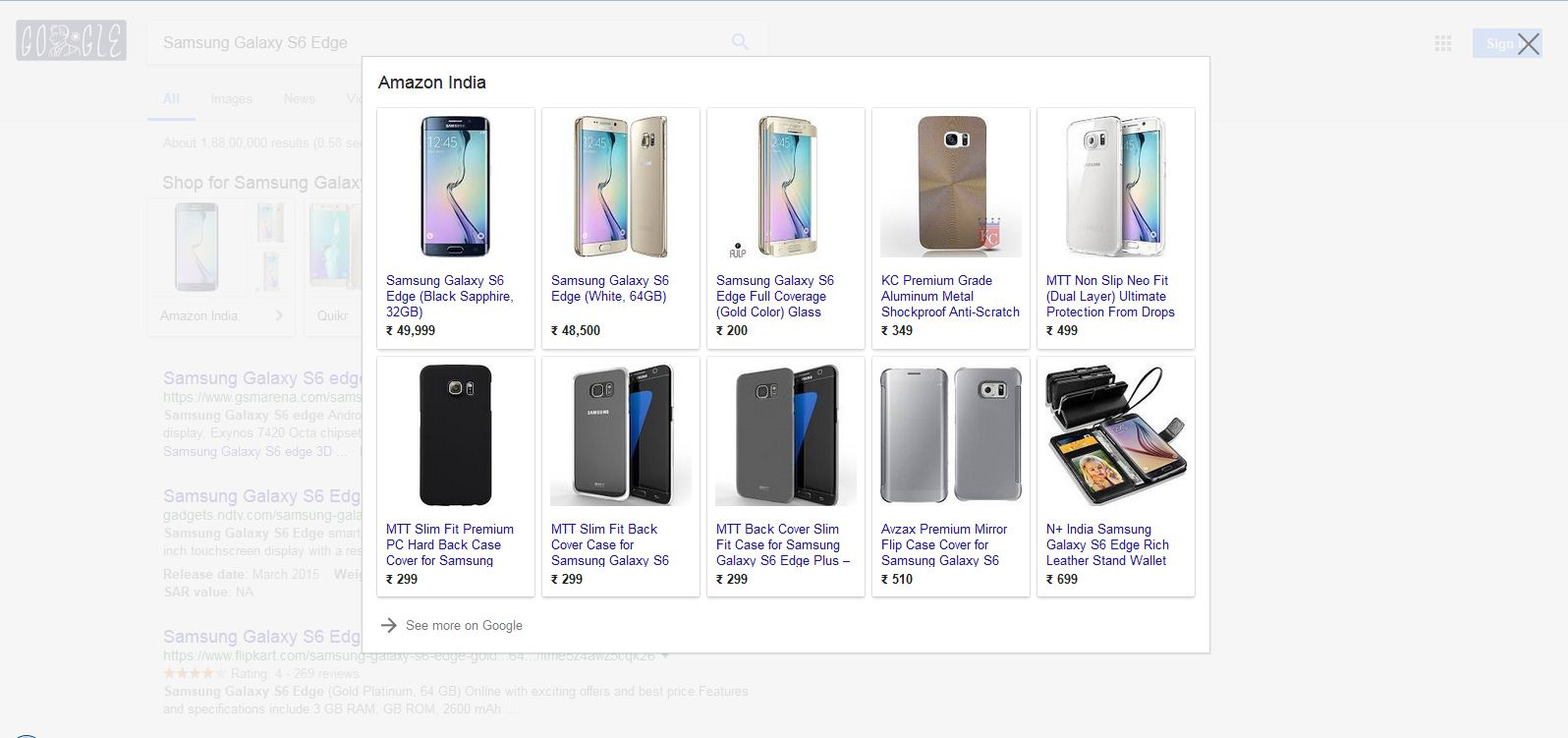 Google Shopping Ads Testing Popup Overlay In Search