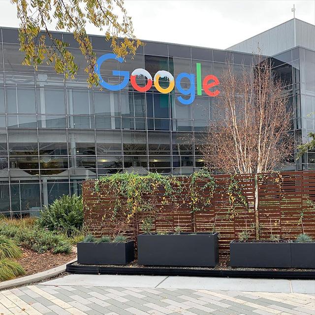 GooglePlex Signage With Snow