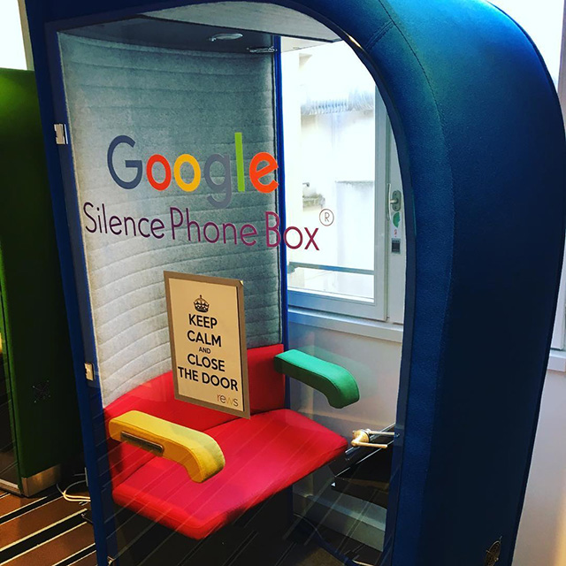 Google Silence Phone Box