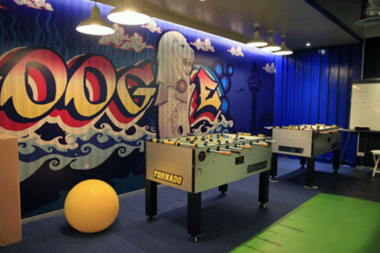 Google Singapore Game Room