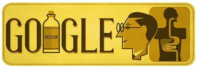 Google Insulin Doodle For Frederick Banting Birthday