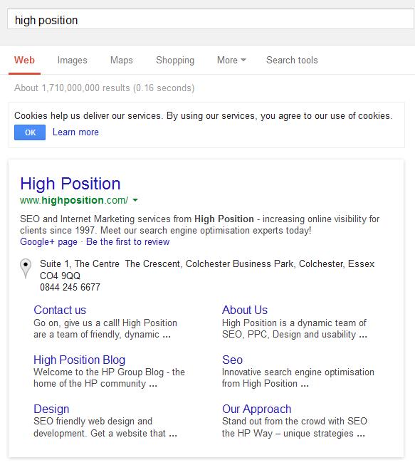Google Sitelinks With Borders