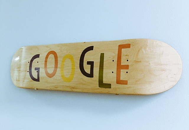 Google Wood Skateboard Art
