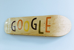 Google Skateboard Art