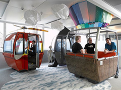 Google Ski Lift & Hot Air Balloon Cart