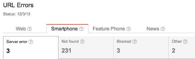 Smartphone Crawl Errors Added To Google Webmaster Tools