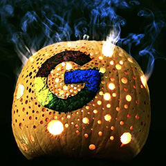 A Smoking Google Pumpkin