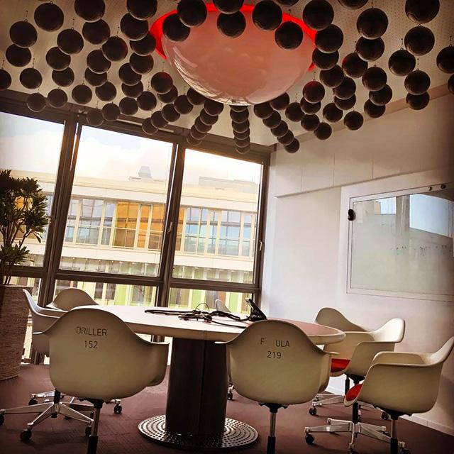 Google Soccer Ball Ceiling Room