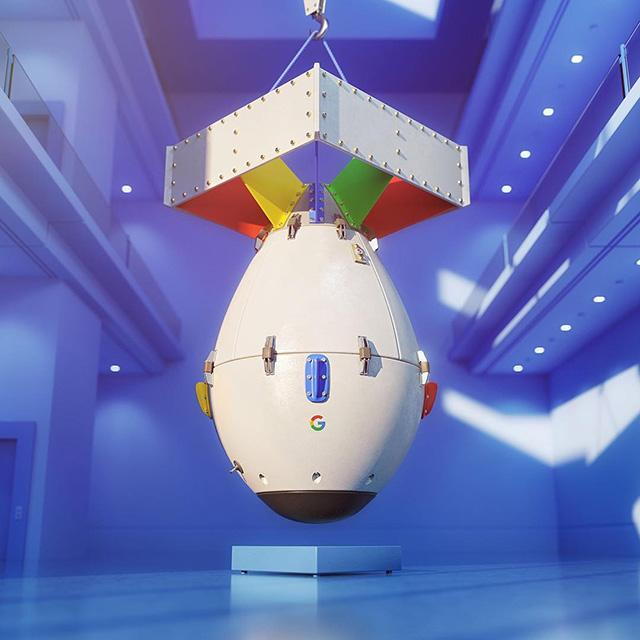Google Space Rocket Capsule Device