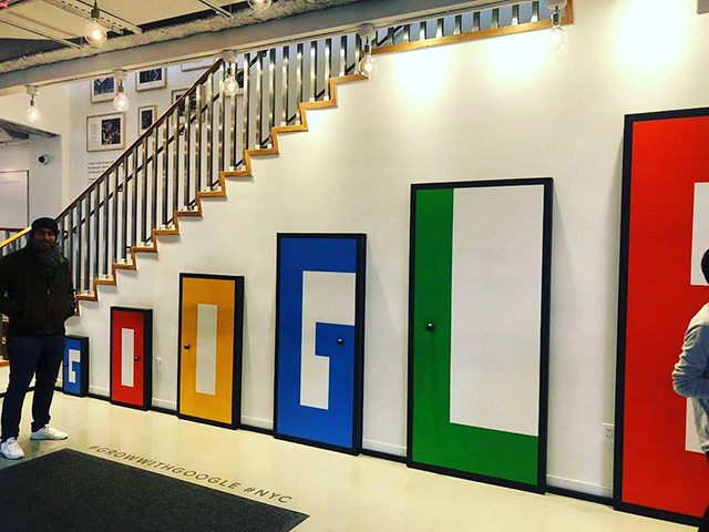 Google Staircase Doors