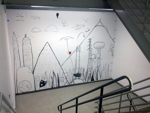 Google NYC Stairwell Mural