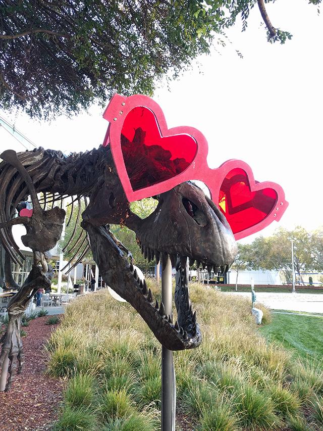 Google's Dinosaur, Stan In Heart Shades
