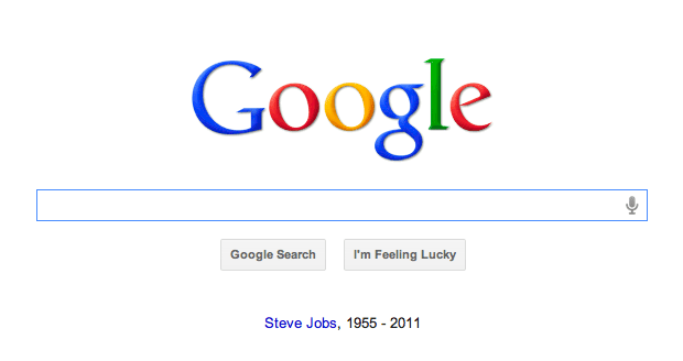 Google Steve Jobs Message