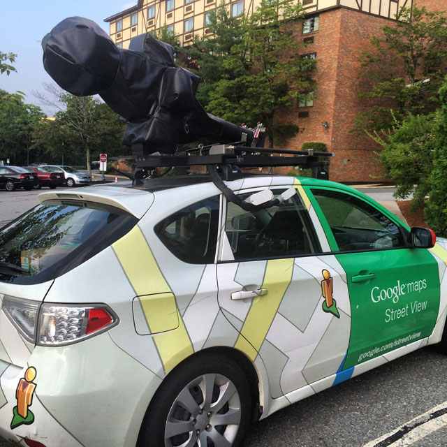 A Sleeping Google Street View Car
