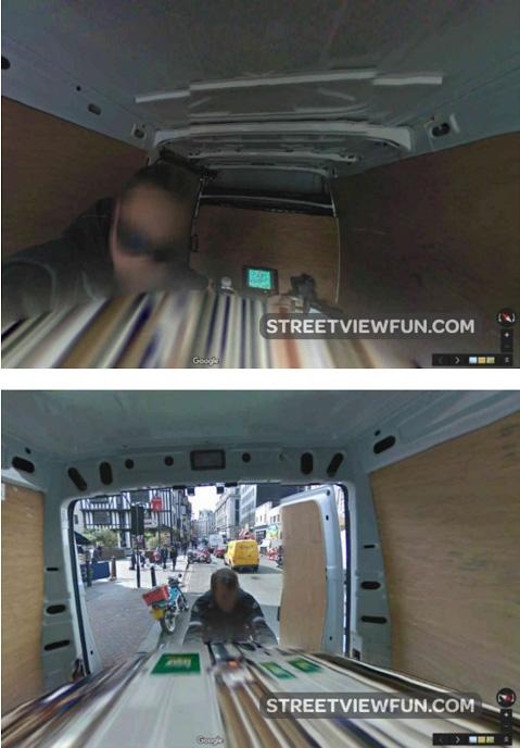 Google StreetView Pictures Inside StreetView Van