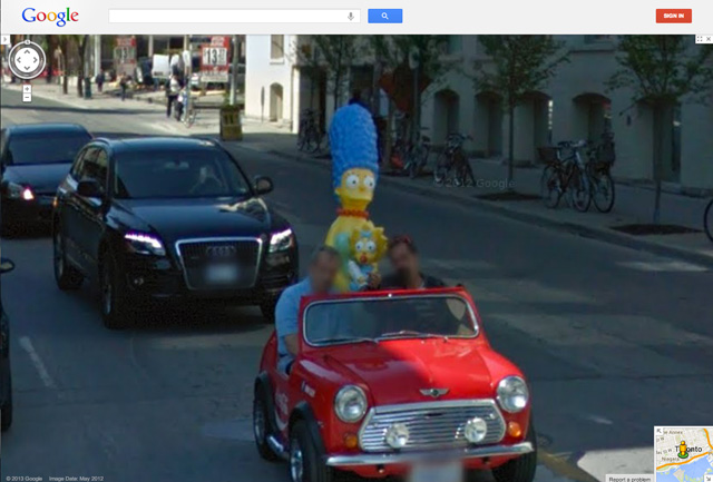 The Simpsons In Google Street View