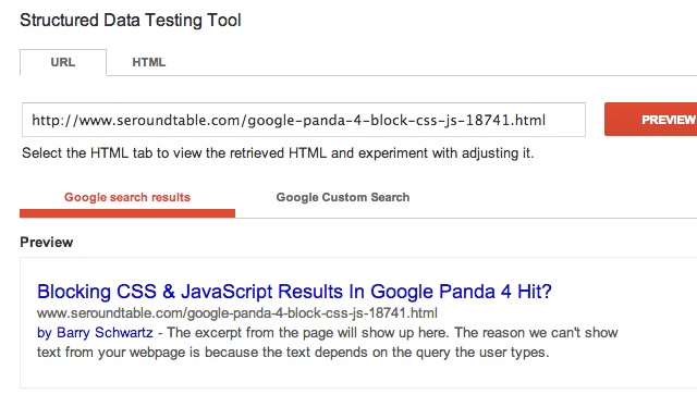 Google Structured Data Testing Tool Also Drops Authorship Image