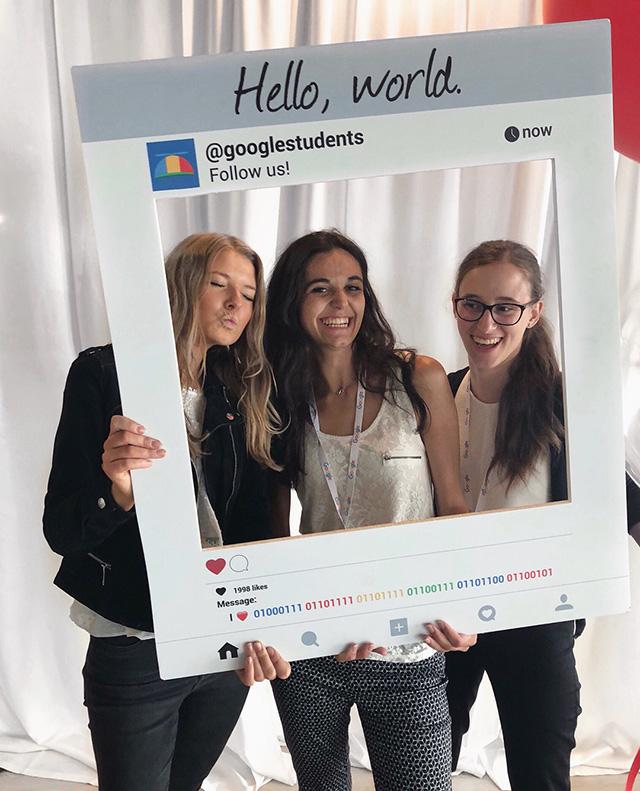 Google Students Social Media Post Sign