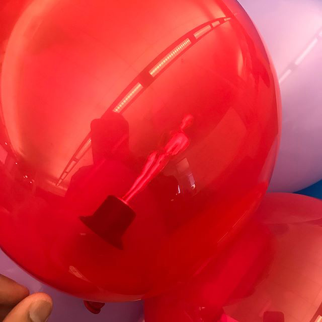 Googler Returns To Work To See His Stuff Inside Of Balloons