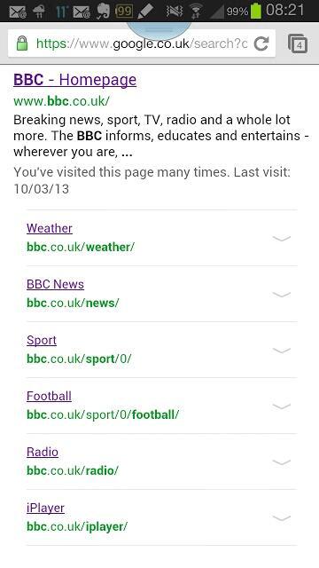 google sub-sitelinks