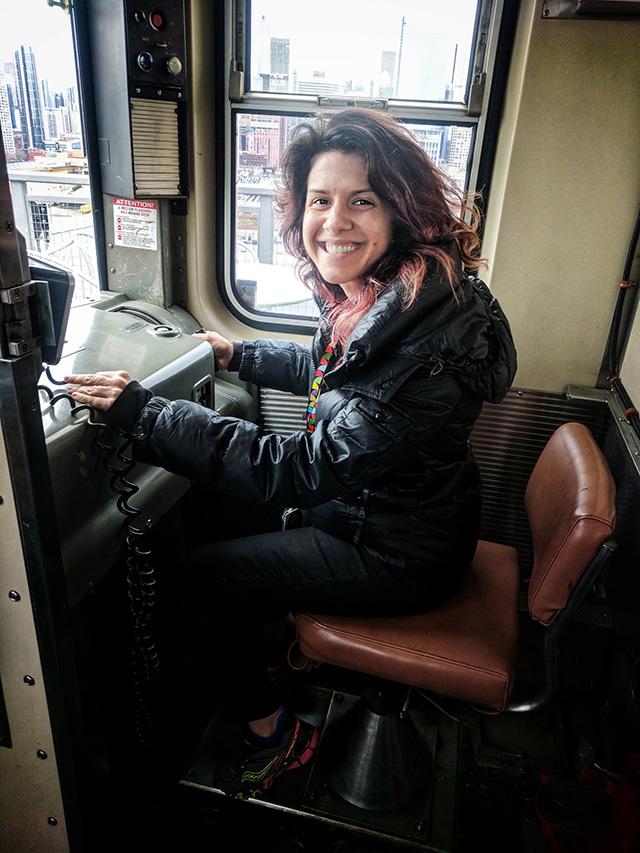 Google Chicago Subway Car Front Seat