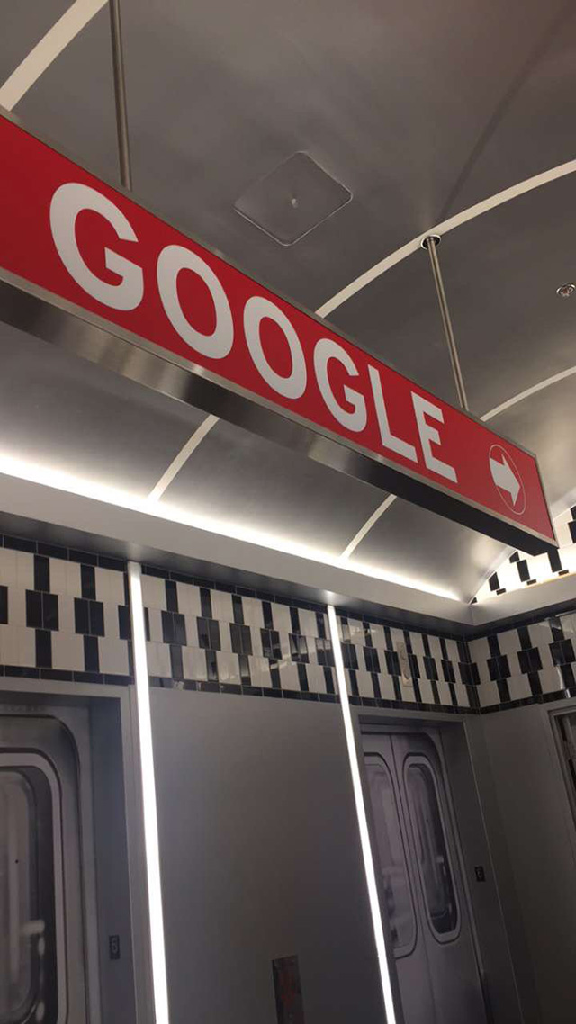 Google Subway Car Sign