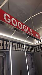 Google Subway Car Sign